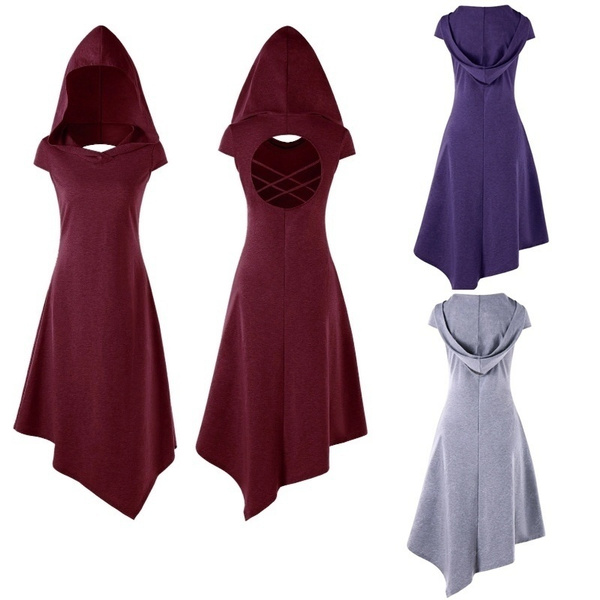 Goth, hooded, Medieval, crisscrossirregulardre