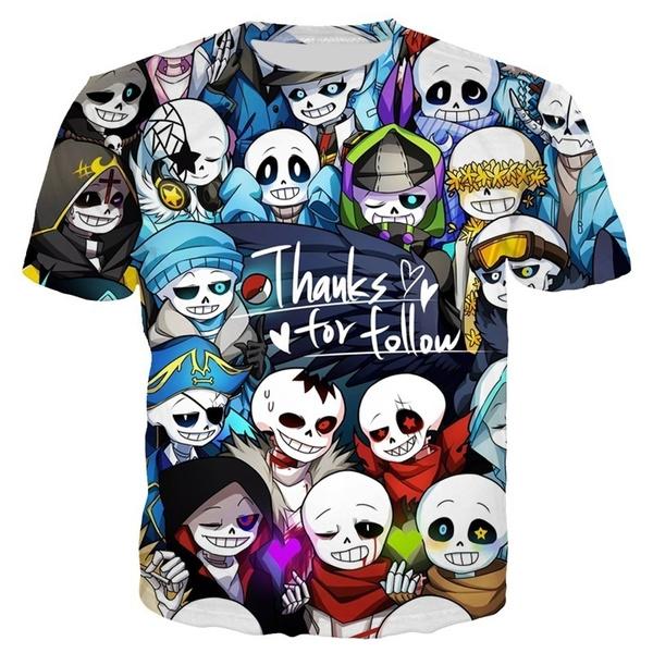 Fashion, unisex clothing, Shirt, undertale