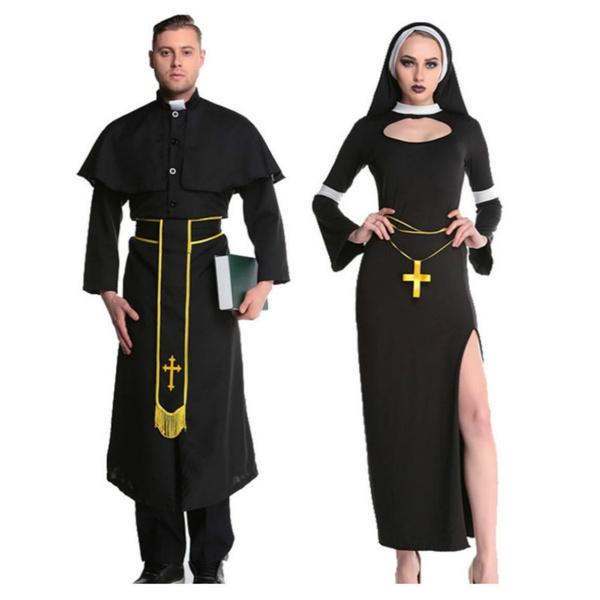 priestcostume, halloweenparty, malemissionariescostume, Cosplay Costume