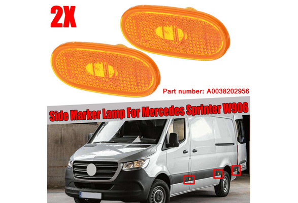 Nrpfell 2Pcs Car Side Marker Light Lamp Turn Signal Light Indicator for Mercedes Sprinter LT 1995-2006 A0028209156