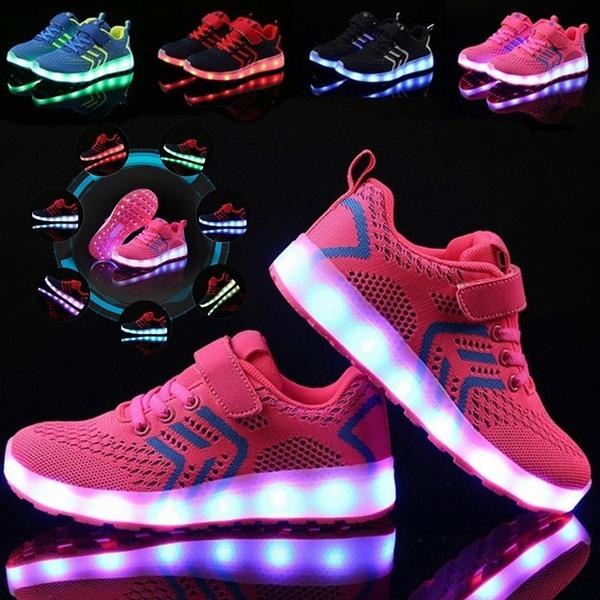 Children's Colorful LED Lights Shoes