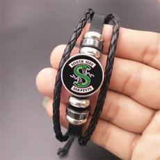Charm Bracelet, cabochon, rope bracelet, Jewelry