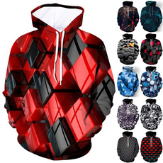 Couple Hoodies, Funny, Sleeve, 3D hoodies