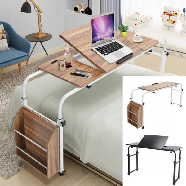 Adjustable Overbed Bed Table Laptop, Overbed Table Queen Bed