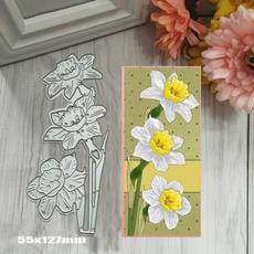 Decor, Flowers, Embossing, diesscrapbooking