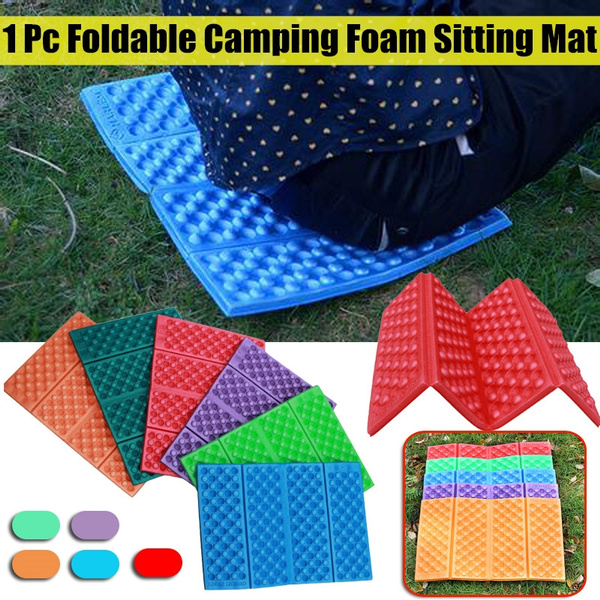 Foldable Camping Foam Seat Cushion Sitting Mat Hiking Beach Picnic Pad Soft WY