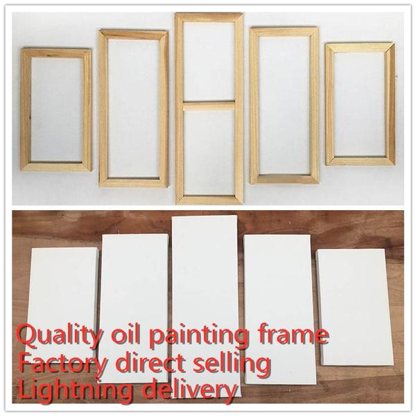 Home Decor, Wooden, 5pcsframe, oilpaintingwoodenframe