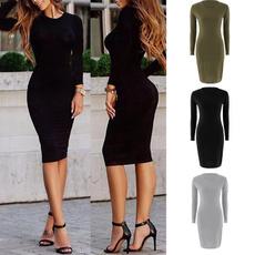 Fashion, Ladies Fashion, Chiffon Dresses, Long Sleeve