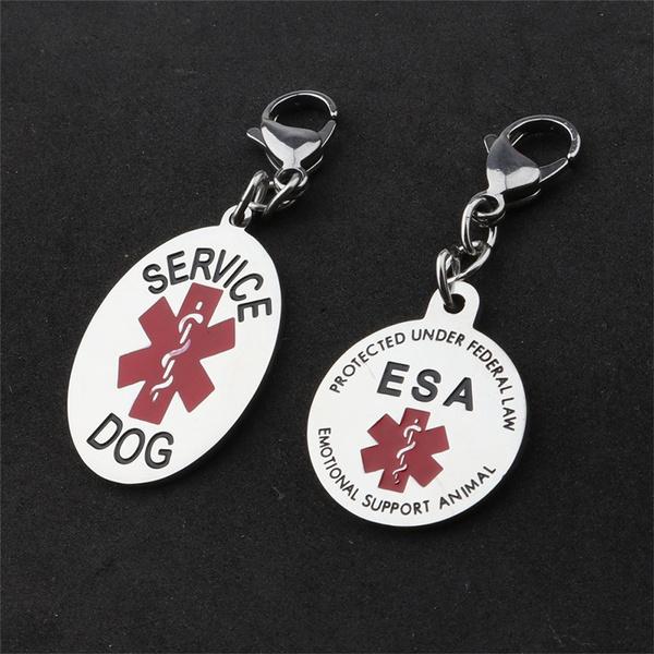 dogtag, Key Chain, emotionalsupportanimal, dognecklacetag