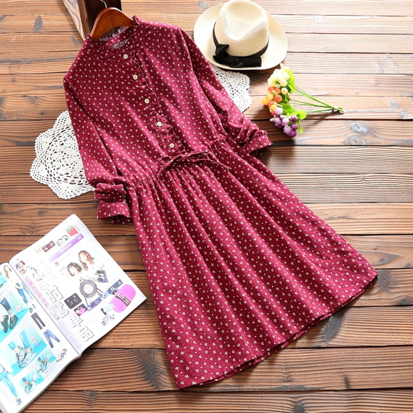 Women, Fashion, Cotton, long sleeve dress