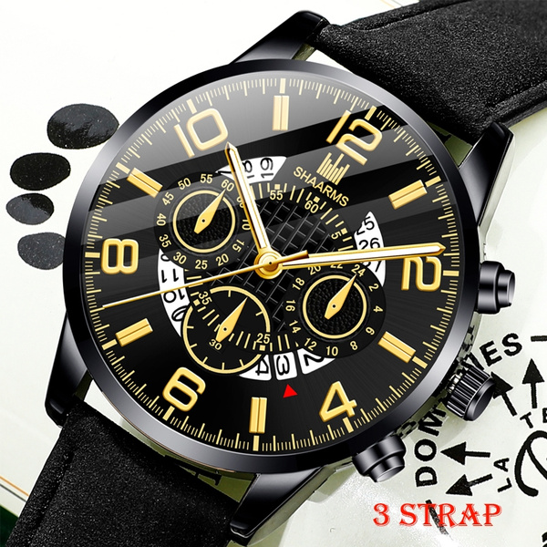 Fashion, leather strap, Watch, Stainless Steel Watches
