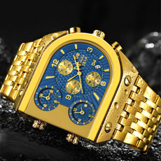 quartz, chronographwatch, creativewatch, gold