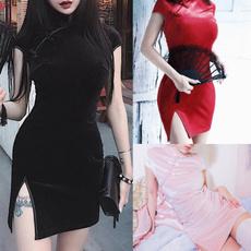 Fashion, splitdre, cheongsam, Dress