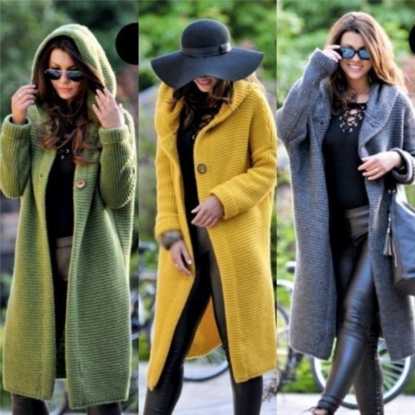 damenjacken, Women, cardigan, hooded