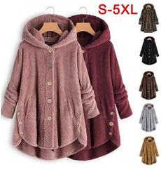 hooded, fur, Winter, fleecejacket