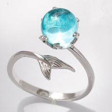 Blues, crystal ring, Jewelry, Gifts