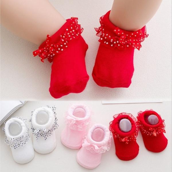 babycottonsock, babysock, Lace, Socks