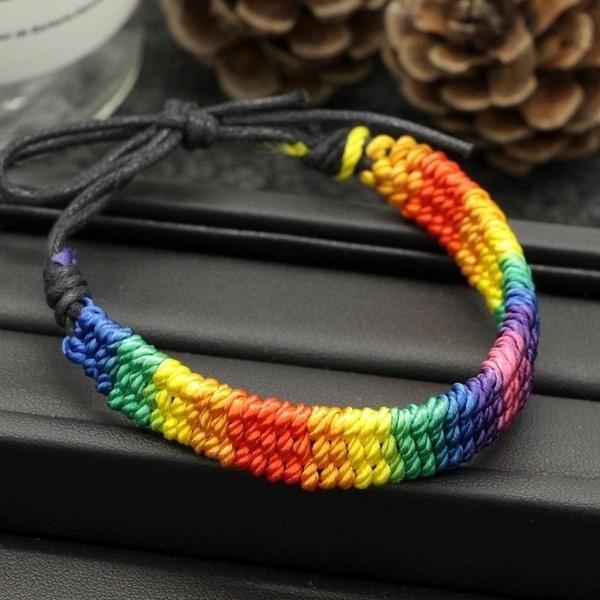 rainbow, Jewelry, Chain, adjustablebracelet