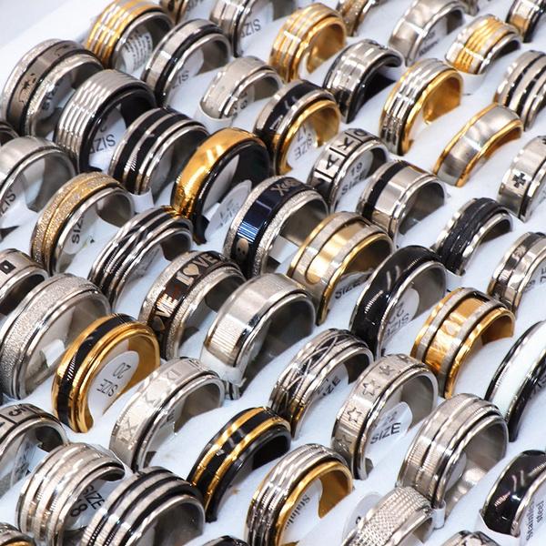 Steel, rotatable, Fashion, Jewelry
