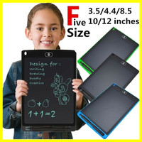 Office Writing,Pink,4.4 8.5 4.4 12 Inch LCD Drawing Board Message Board Handwriting Pad E-Write Drawing Graffiti Board with Stylus for Kids Family Memo