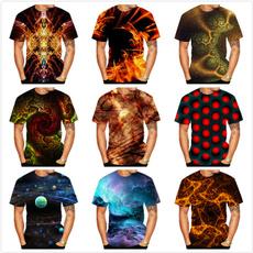 abstractprintingtshirt, fashion3dtshirt, summer t-shirts, short sleeves