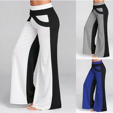 Polyester, Fashion, high waist, pants