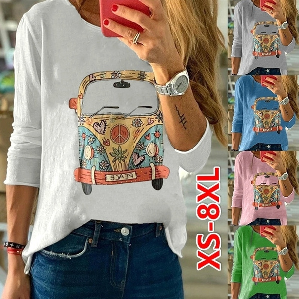 Tops & Tees, Plus Size, Cotton T Shirt, Printed Tee