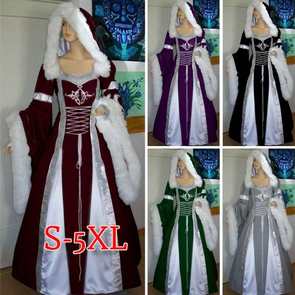 GOTHIC DRESS, Plus Size, Medieval, Cosplay Costume