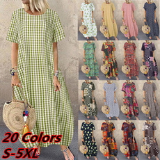 Summer, dressesforwomen, Necks, Sleeve