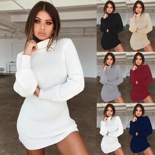collar slim, Slim Fit, sweater dress, Winter