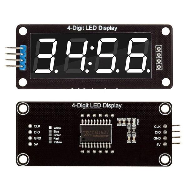 0.56/'/' TM1637 4Bit Digital LED 7 Segment Clock Tube Display For Arduino White