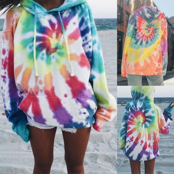 rainbow, Fashion, Winter, tie dye hoodie