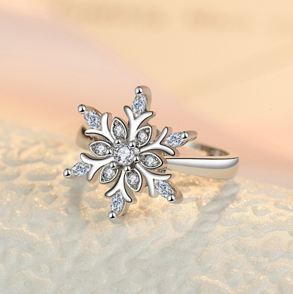 Sterling, adjustablering, DIAMOND, Women Ring