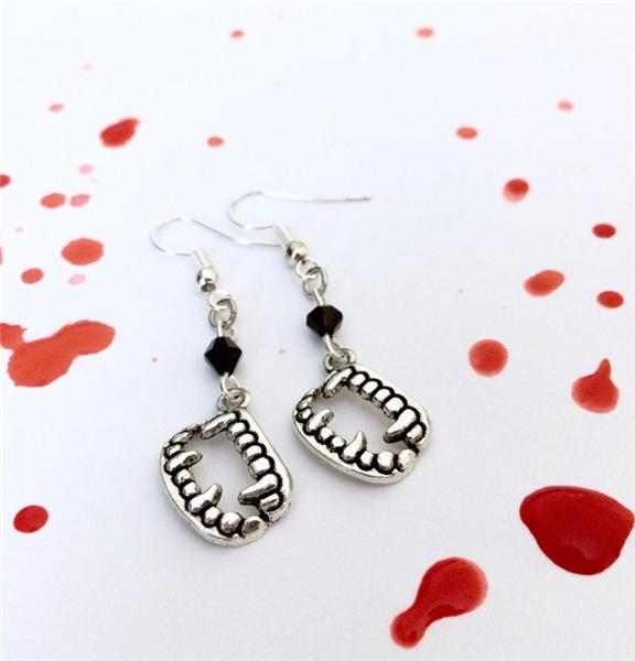 Goth, Dangle Earring, Jewelry, halloweengift