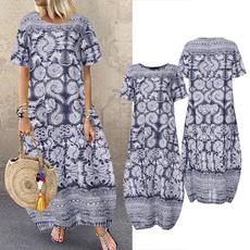 Summer, dressesforwomen, Print Dresses, Shirt
