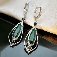 Sterling, Silver Jewelry, DIAMOND, Dangle Earring