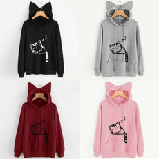 cute, hooded, Sleeve, Long Sleeve
