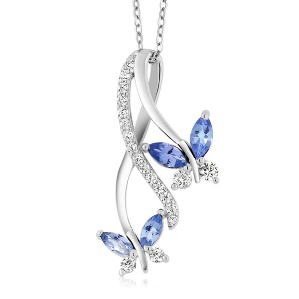 butterfly, Blues, 925 sterling silver, Jewelry