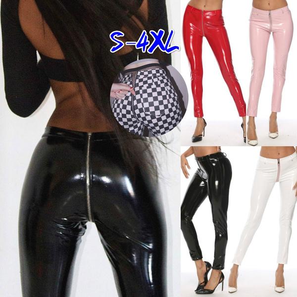 latex, Leggings, casualpantswomen, sexy club wear