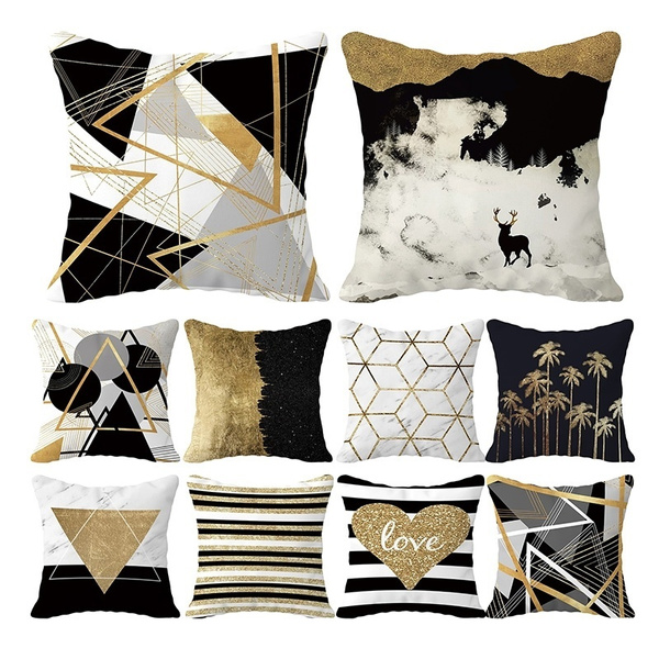 Home Decor, gold, Pillowcases, Pillow Covers