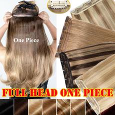 Head, Hairpieces, balayagehair, onepiece