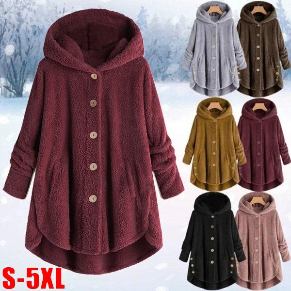 Jacket, Fleece, Plus Size, Winter