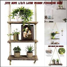 Rope, juteropestoragerack, wallmountedplantstoragerack, Home & Kitchen
