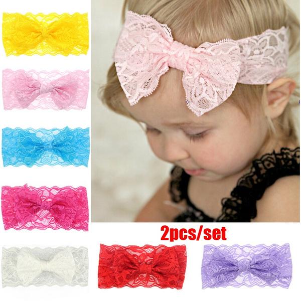 laceheadband, Flowers, Lace, Elastic