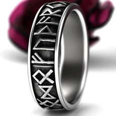 symbolring, Steel, amuletring, Stainless Steel