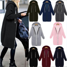 Plus Size, Hoodies, Zip, slim