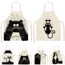apron, cartoonapron, womenapron, cartooncat