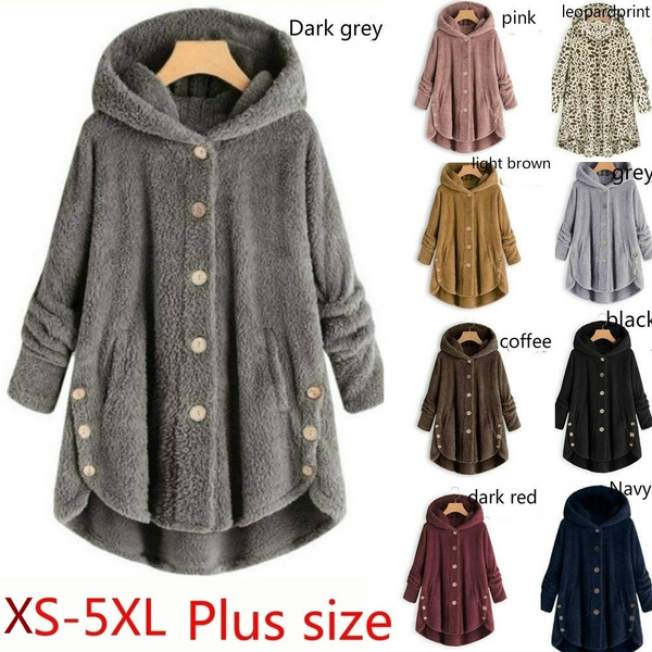 Plus Size, Winter, coatsampjacket, Long Sleeve