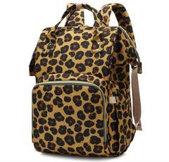 Shoulder Bags, women backpack, leopard print, Backpacks