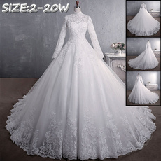 gowns, Ball, Lace, Sleeve